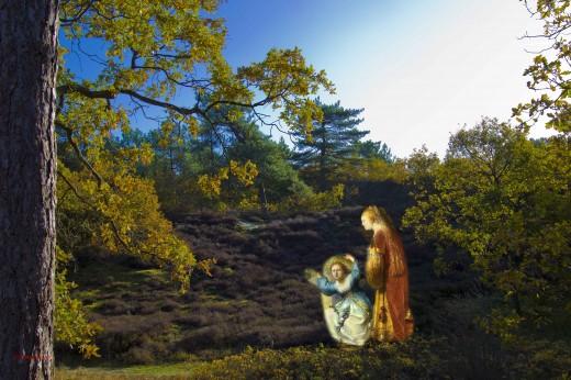 eigen foto schoorl        met een detail  uit schilderij van rembrandt      de roofvan europa